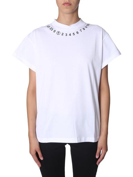 Maison Margiela T-shirt With Logo in bianco