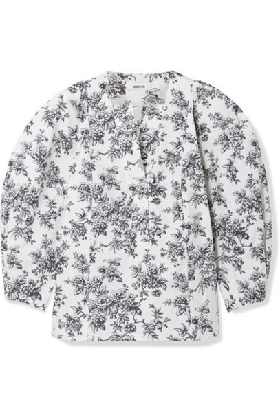 Jason Wu - Floral-print Cotton-poplin Blouse - White