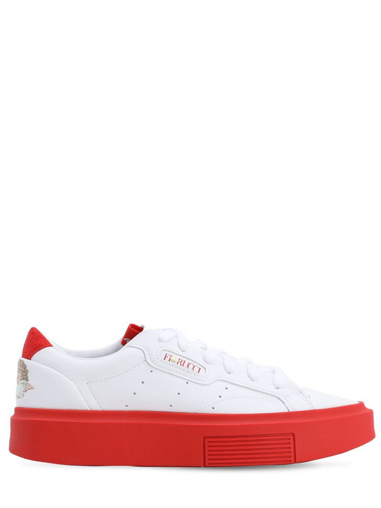 ADIDAS ORIGINALS Hypersleek Super Fiorucci Sneakers in red / white