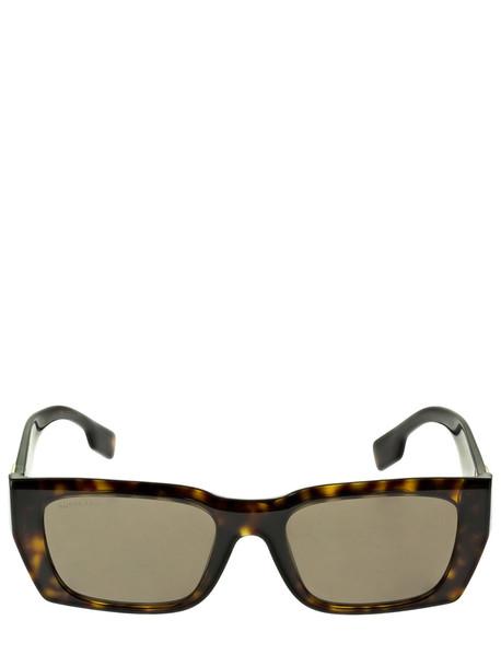 BURBERRY B Logo Squared Acetate Sunglasses in brown