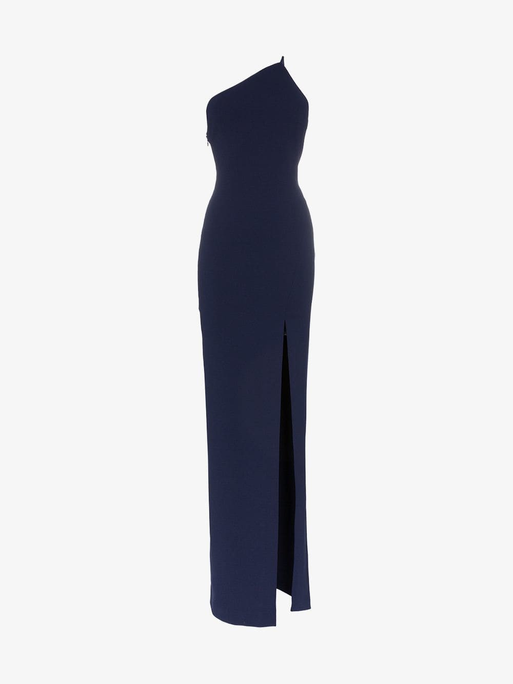 Solace London Petch stretch one shoulder maxi dress in blue