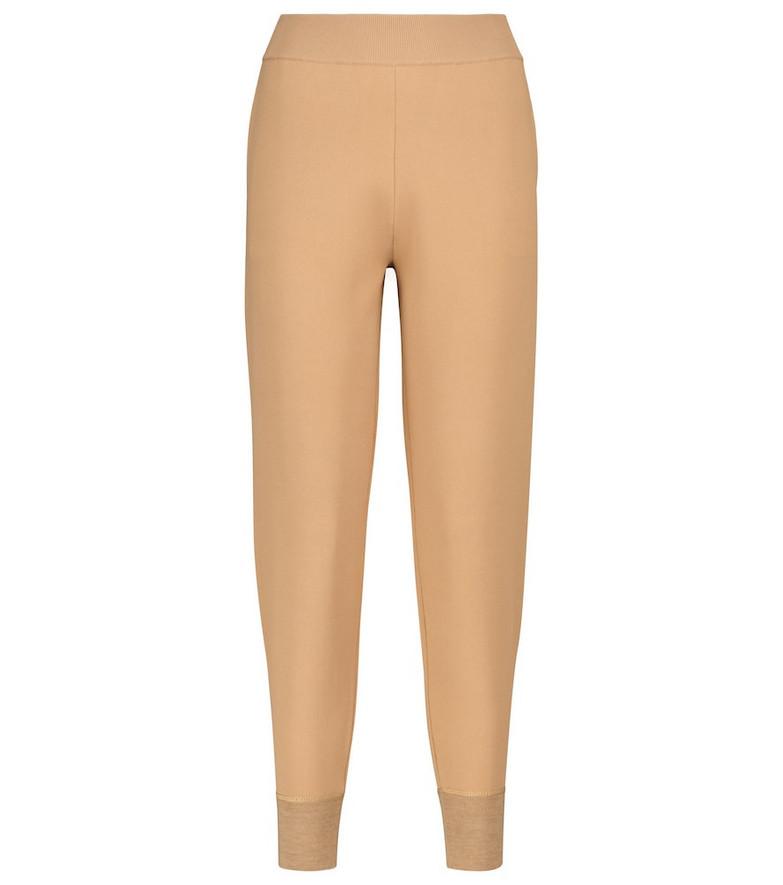 Stella McCartney Compact sweatpants in beige