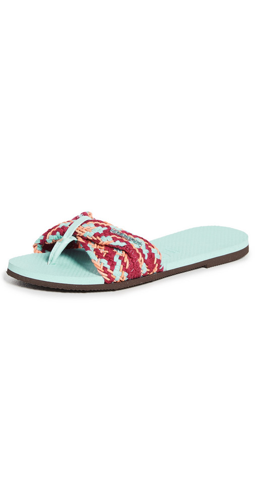 Havaianas You St. Tropez Mesh Slides in blue