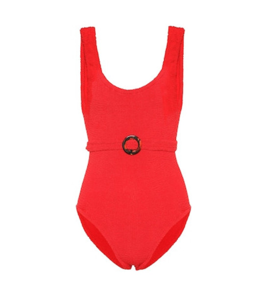 Hunza G Solitaire swimsuit in red