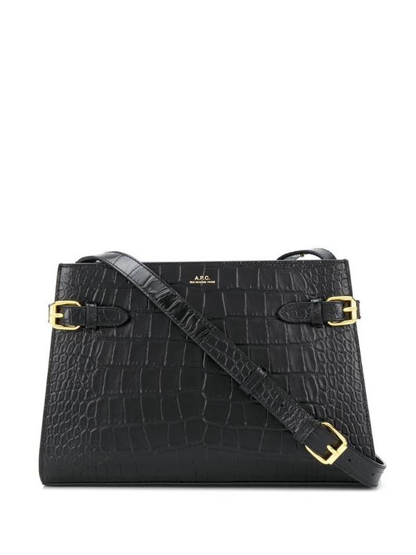 A.P.C. croc-effect shoulder bag in black