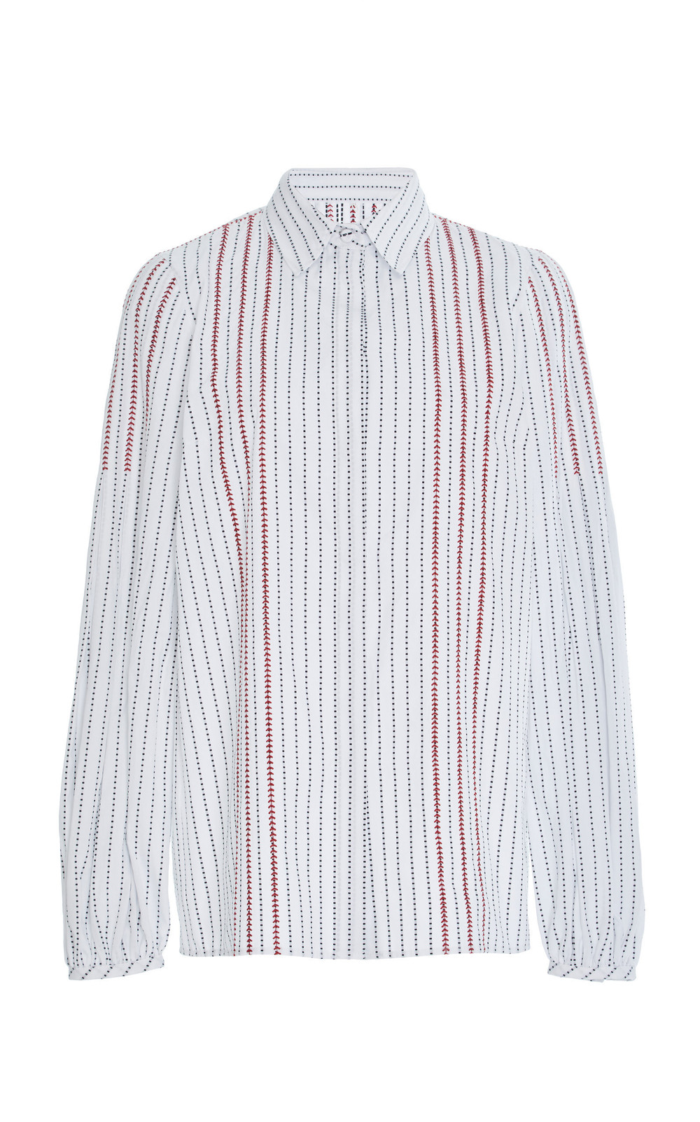 Gabriela Hearst Wight Cotton Poplin Shirt in black