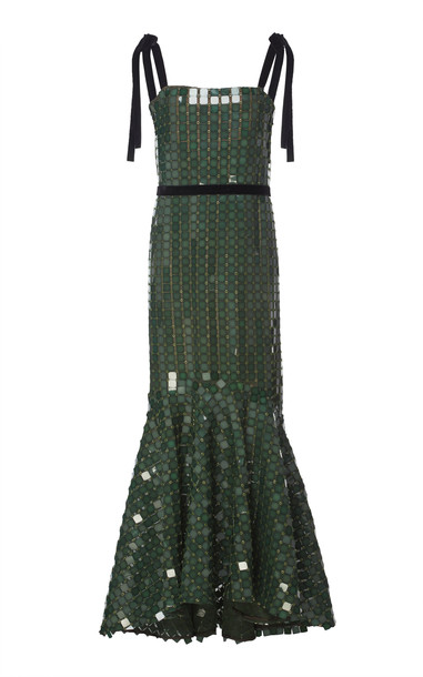Johanna Ortiz Night Dancing Sequin-Embroidered Midi Dress Size: 4