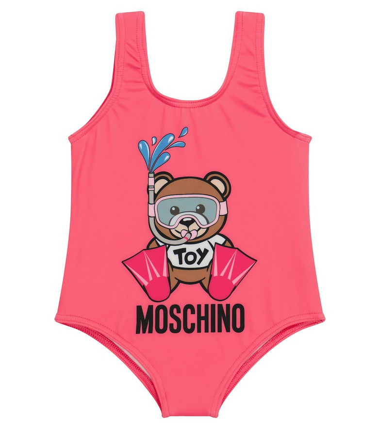 Moschino Kids Baby printed swimsuit in pink