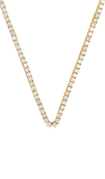 Luv AJ The Ballier Necklace in Metallic Gold