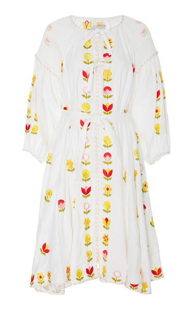 Innika Choo Hugh Jesmok Dress in white