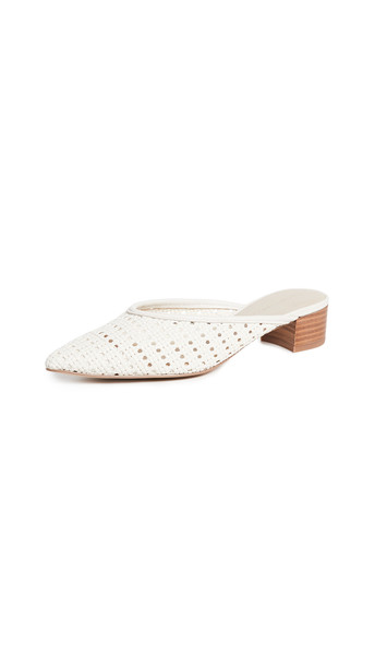 cupcakes and cashmere Leviana Woven Mules in cream