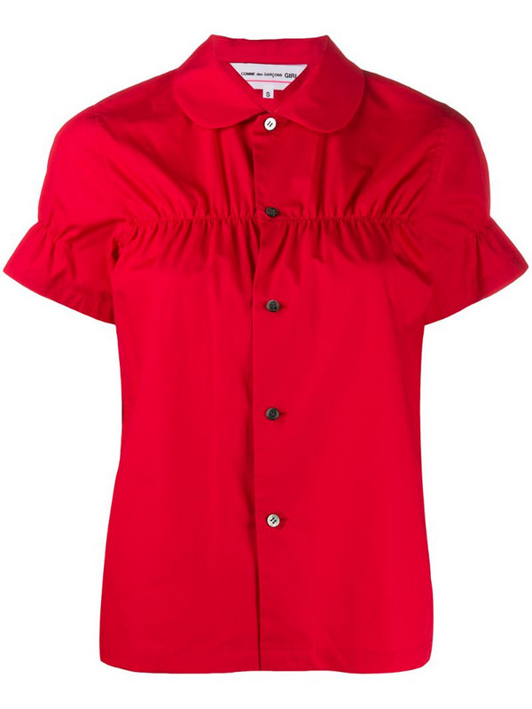 Comme Des Garçons Girl cinched detail short-sleeve shirt in red