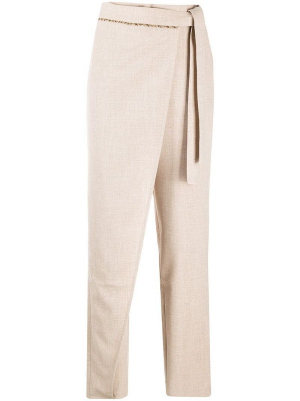 Andersson Bell Emma Wrap Tapered Pants in neutrals