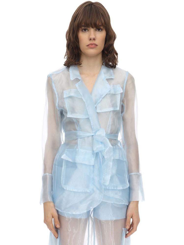 AÉRYNE Organza Jacket in blue