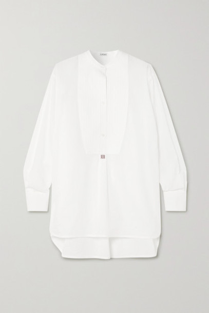 Loewe - Oversized Embroidered Cotton-poplin Tunic - White