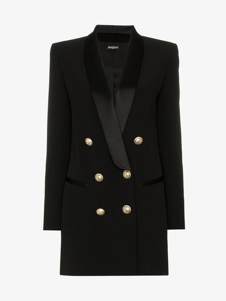 Balmain double-breasted blazer dress in black