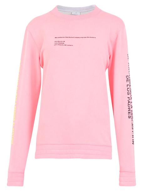 Marcelo Burlon Printed Sweatshirt in pink
