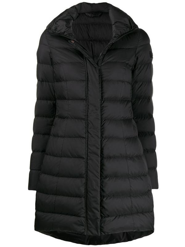 Peuterey long sleeve padded coat in black