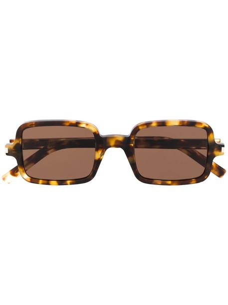 Saint Laurent Eyewear tortoiseshell square sunglasses in brown