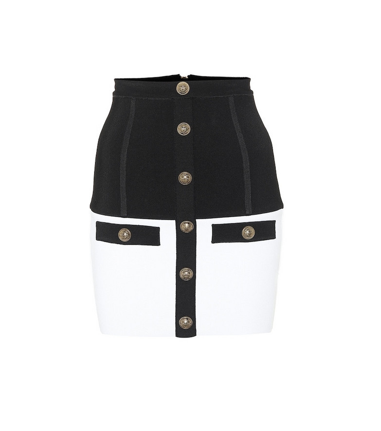 Balmain High-rise miniskirt in black