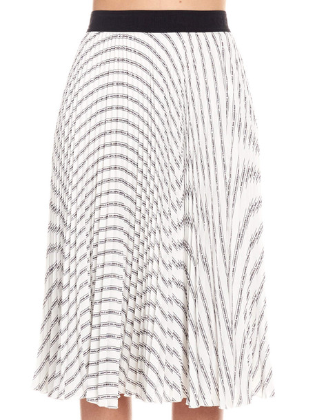 Karl Lagerfeld Skirt in black / white