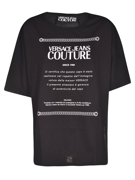 Versace Jeans Couture Jersey T-slub T-shirt in nero