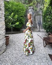 dress,maxi dress,white dress,off the shoulder dress