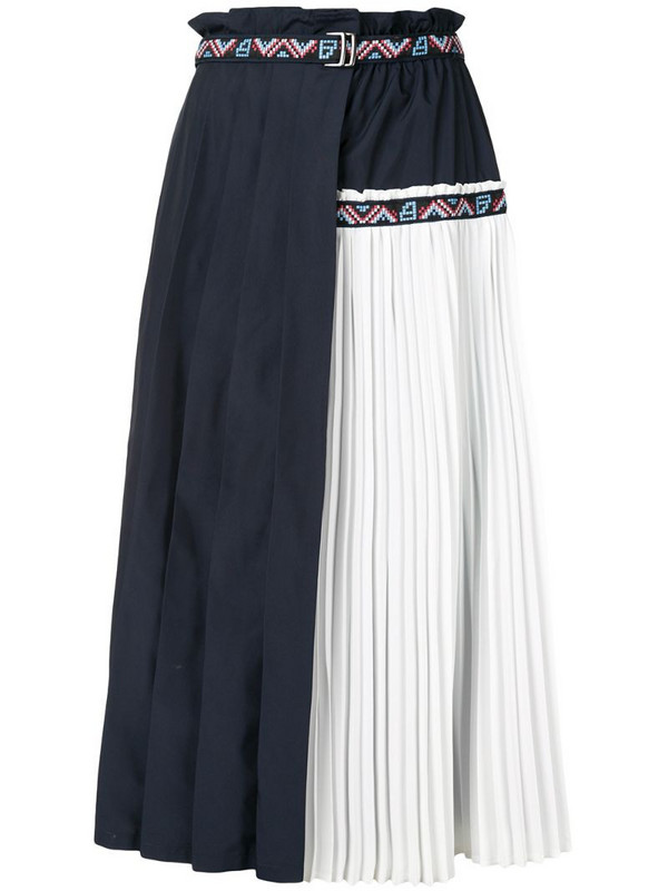 BAPY BY *A BATHING APE® pleated midi skirt in blue