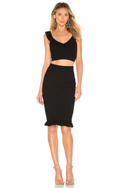 superdown Agustina Ruffle Skirt Set in black