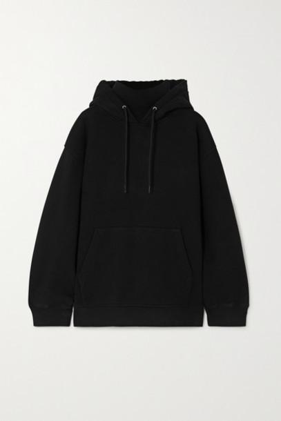 alexanderwang.t - Cotton-jersey Turtleneck Hoodie - Black