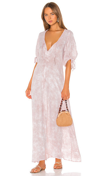 Tiare Hawaii Paroa Bay Dress in Blush in white