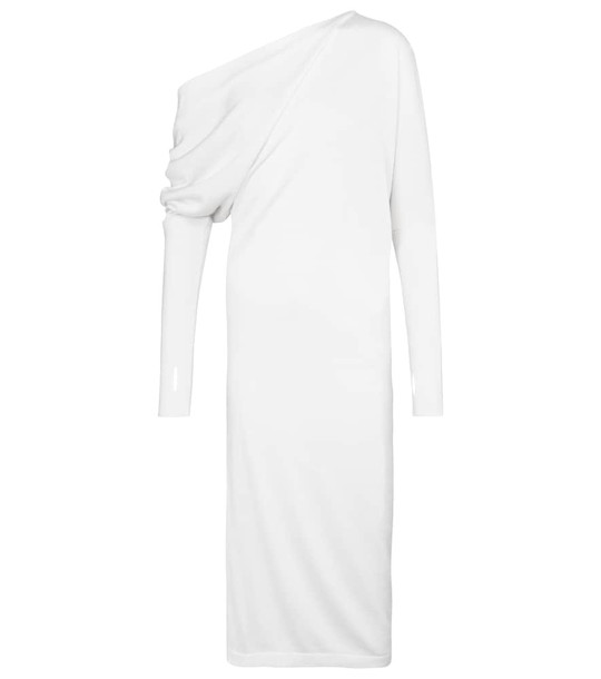 Tom Ford Cashmere and silk midi dress in white