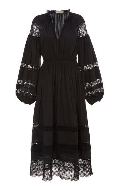 Ulla Johnson Ophelia Broderie Anglaise Cotton Midi Dress Size: 2