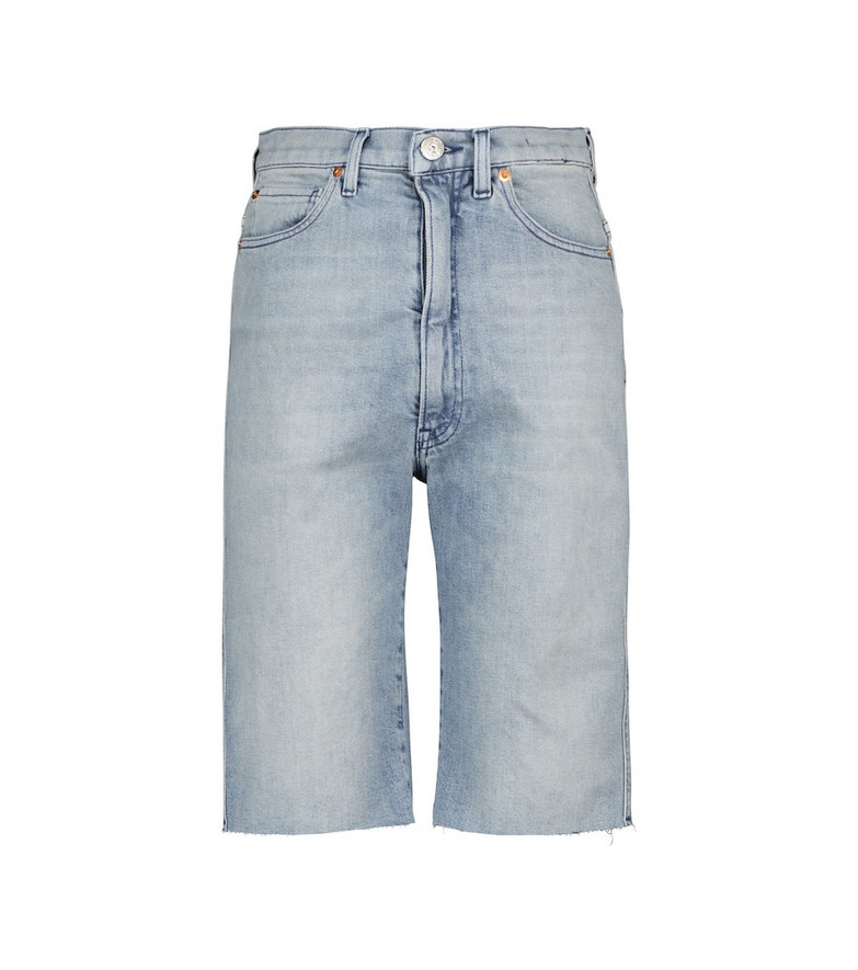 3x1 Extra high-rise shorts in blue