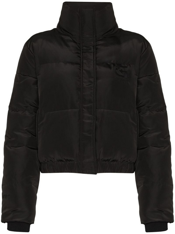 Danielle Guizio cropped puffer jacket in black