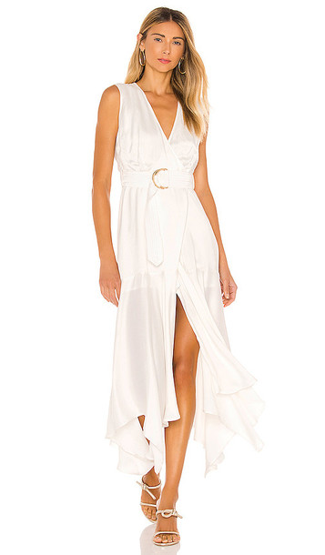 Karina Grimaldi Rhoda Solid Dress in Ivory