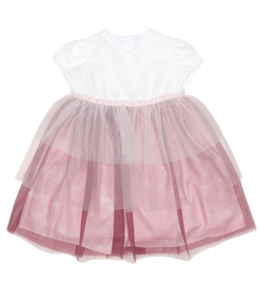 Il Gufo Baby tulle dress in pink