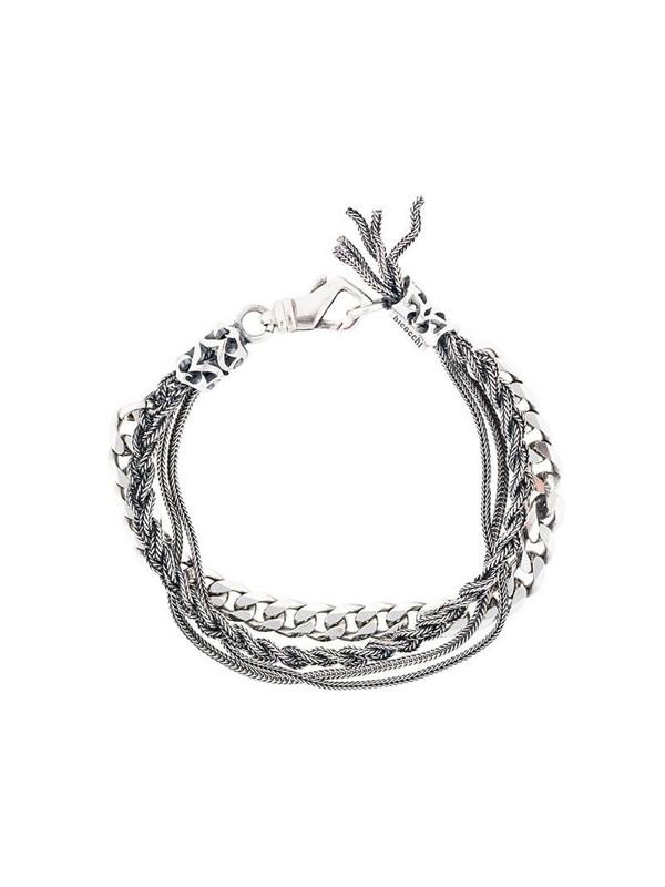 Emanuele Bicocchi multi chain bracelet in metallic