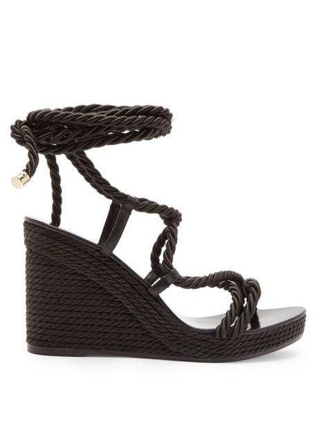 Jimmy Choo - Allis 95 Espadrille Wedge Sandals - Womens - Black
