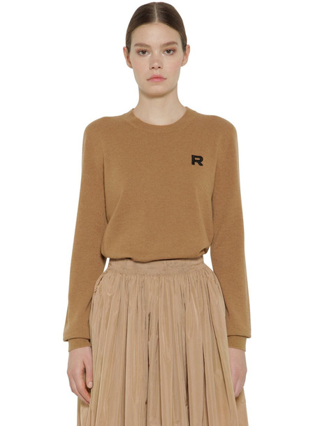 ROCHAS Cashmere Knit Sweater in camel