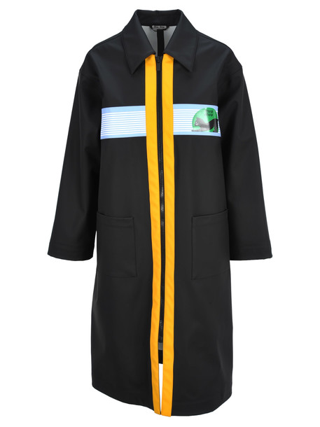 Miu Miu Miu Miu Zipped Trench Coat in black