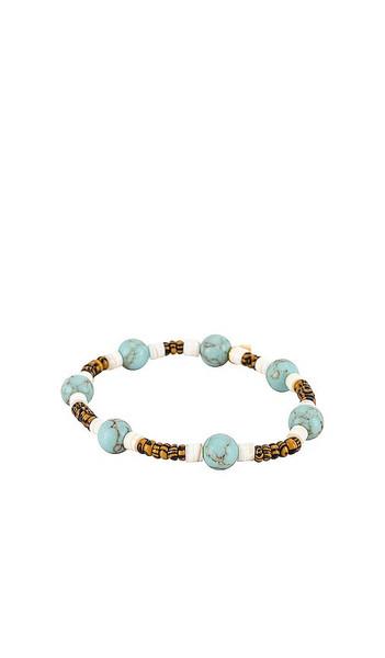 Lele Sadoughi Taos Stretch Bracelet in Teal in turquoise