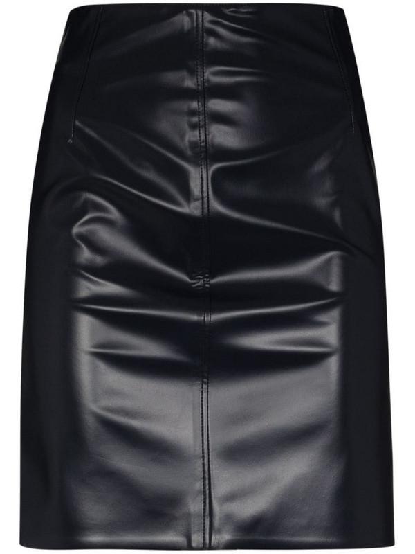Kwaidan Editions faux-leather mini skirt in blue