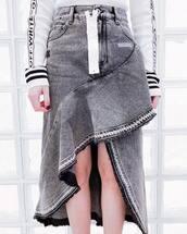 skirt,grey skirt