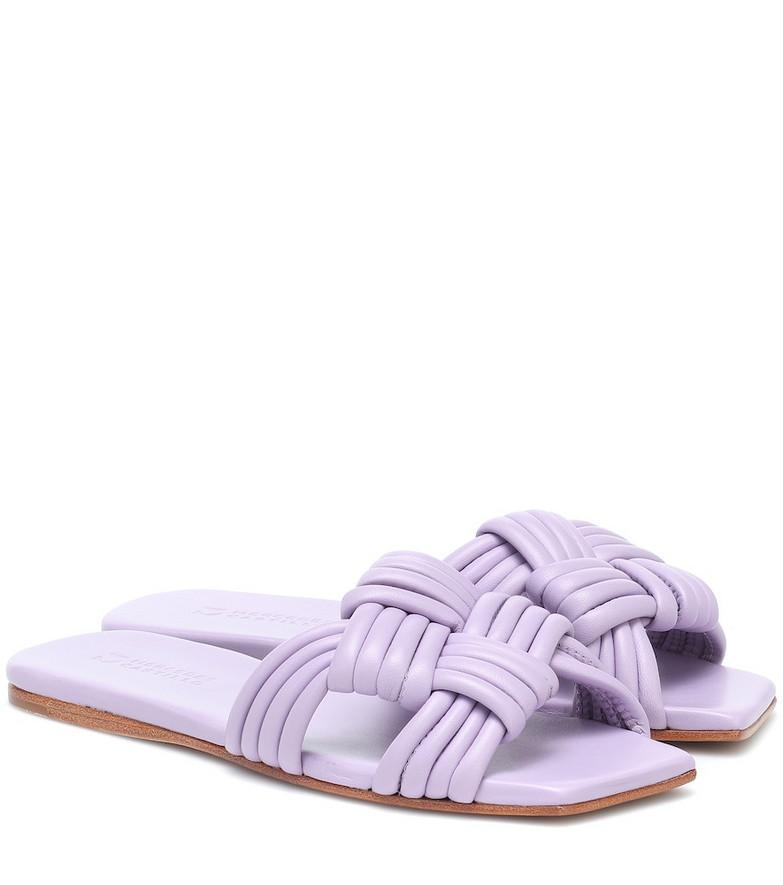 Mercedes Castillo Tatiana woven leather sandals in purple