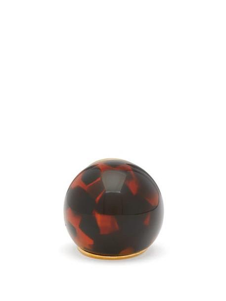 Fendi - Spherical Large Tortoiseshell-effect Ring - Womens - Brown