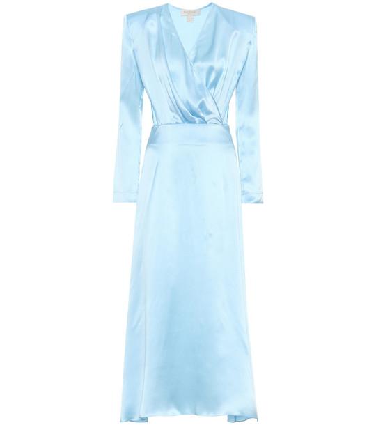 Matériel Tbilisi Silk-satin dress in blue
