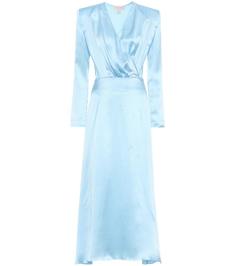 Matériel Tbilisi Silk-satin dress in blue
