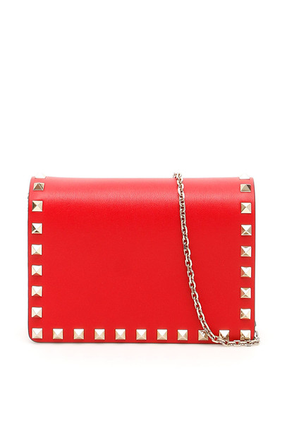 Valentino Garavani Mini Rockstud Bag in red
