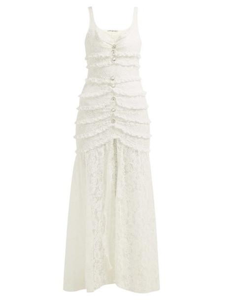 Alessandra Rich - Lace Cotton Blend Dress - Womens - Ivory